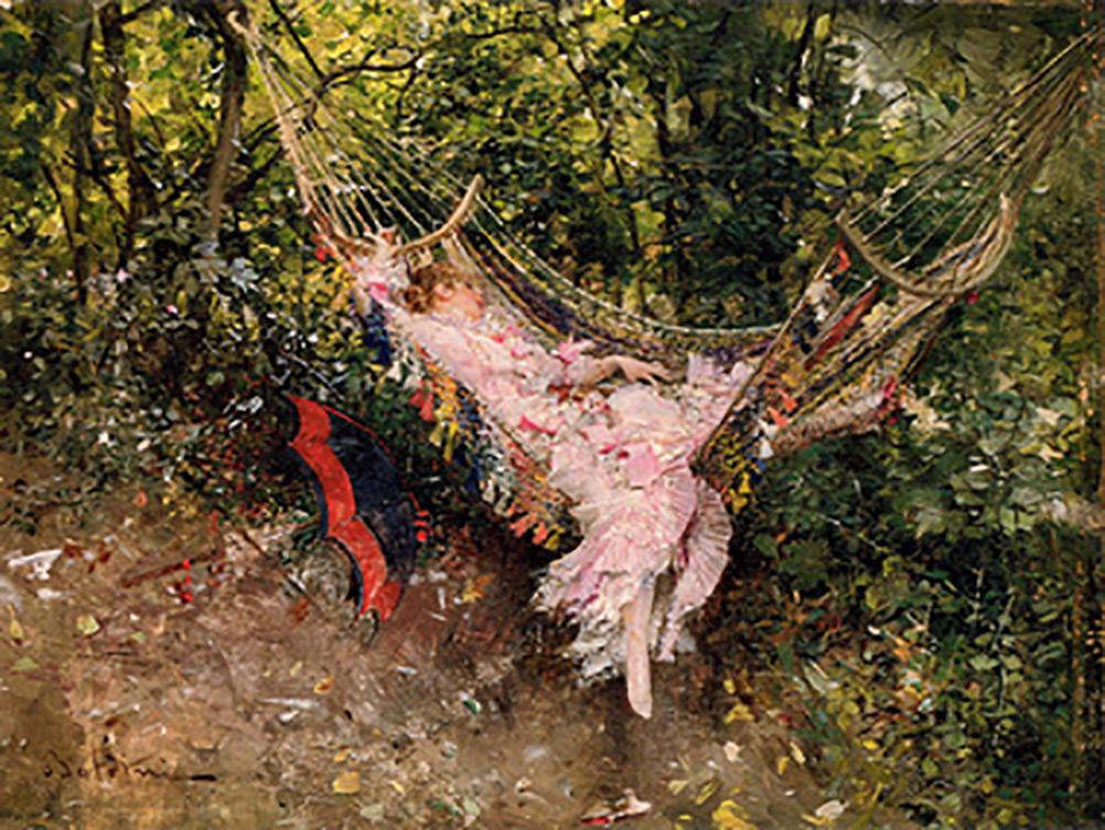 Giovanni Boldini the hammock