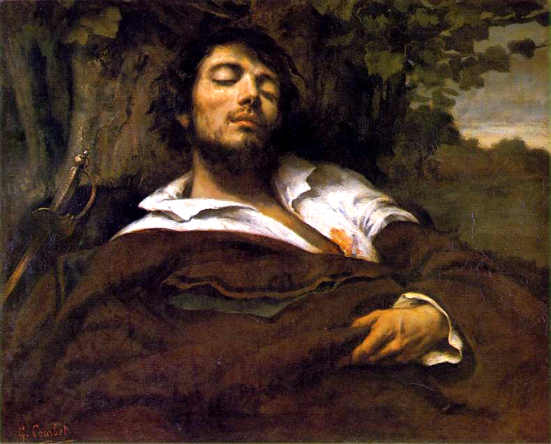 Courbet homme blesse